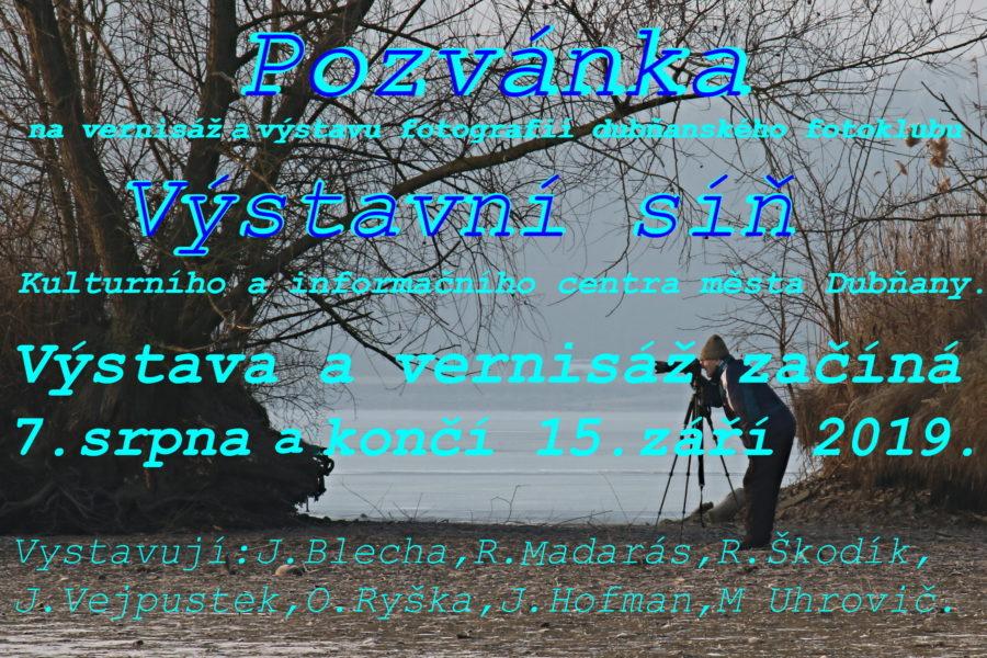 Výstava fotografií dubňanského fotoklubu