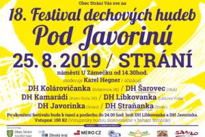 """Festival dechových hudeb """"Pod Javorinú"""" 2019"""