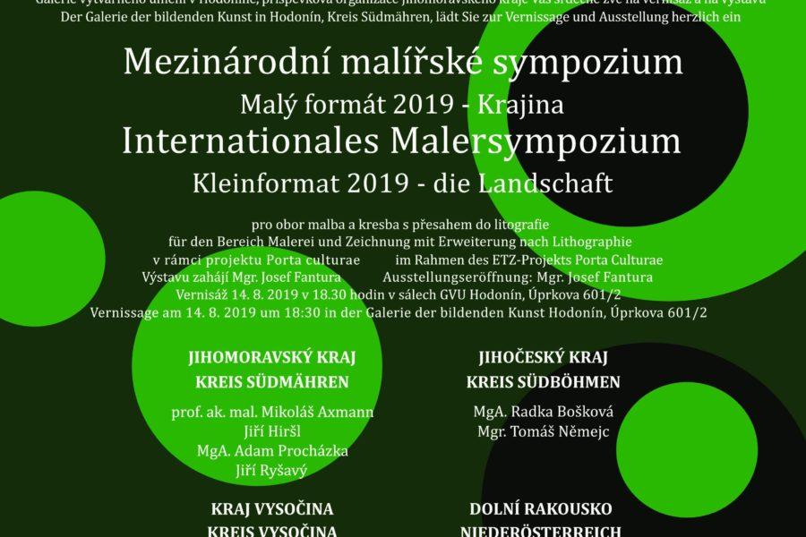Mezinárodní malířské sympozium – MALÝ FORMÁT 2019 – Krajina