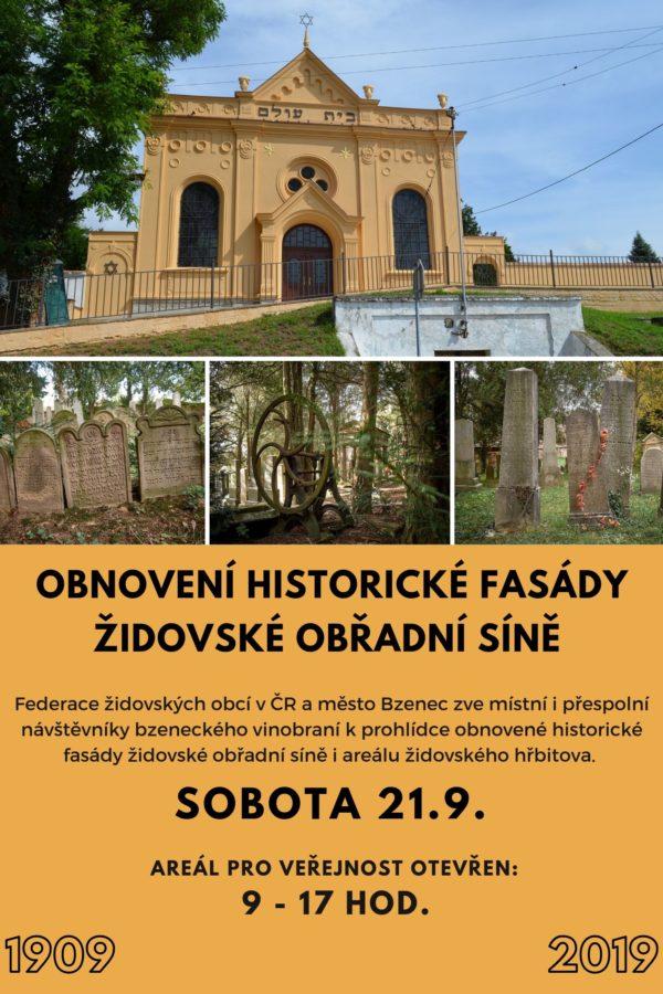 Prohlídka židovského hřbitova a obnovené fasády domu věčnosti