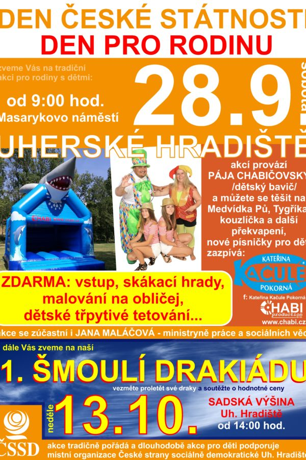 Den české státnosti – akce pro děti s Pájou Chabičovským
