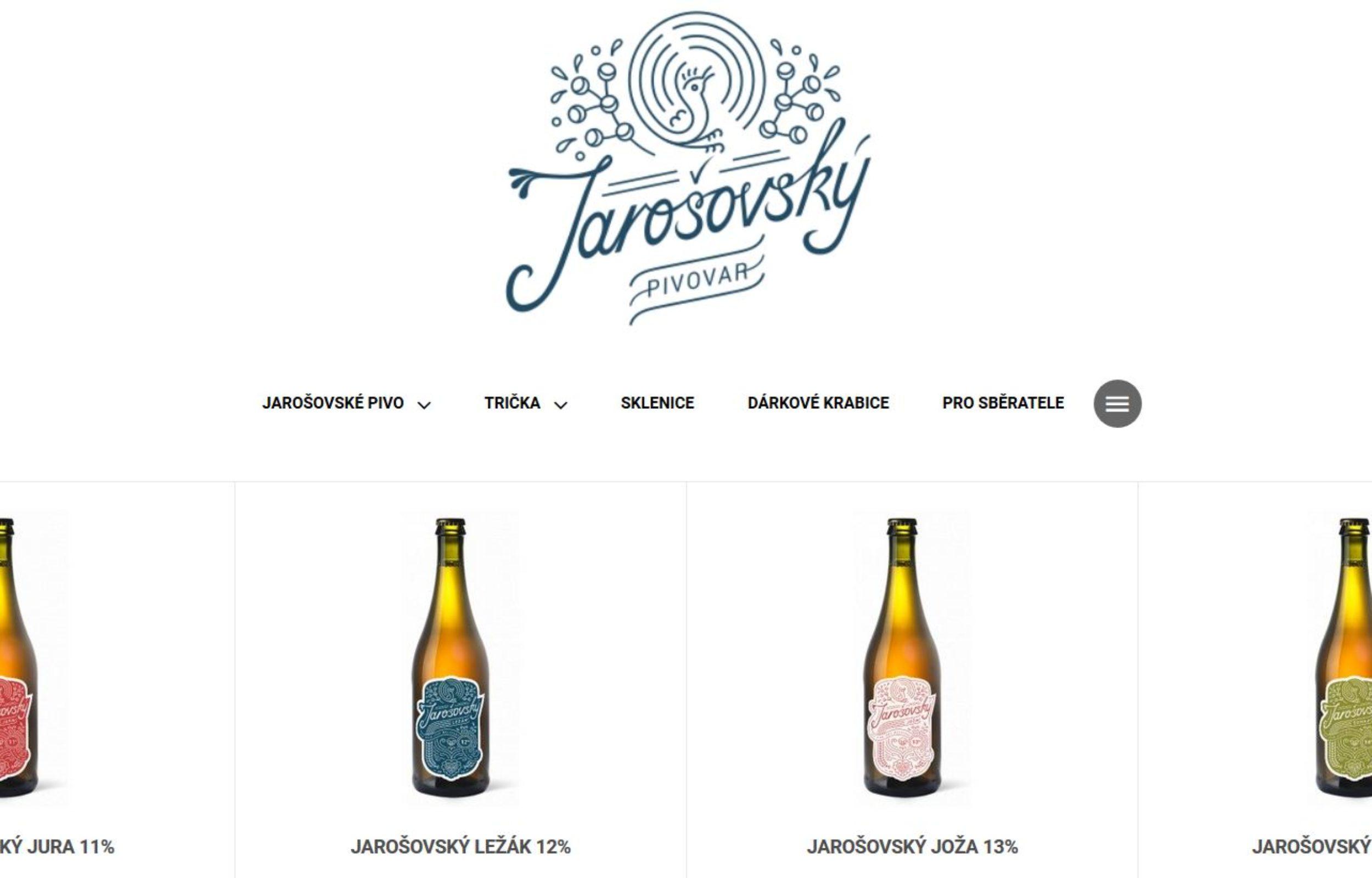 Jarošovský pivovar rozjíždí e-shop